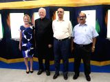 Ambassador of Sweden to India, Harald Sandberg, along with Managing Director of Delhi Metro Rail Corporation Ltd. Mangu Singh  inaugurates of The Nobel Memorial Wall to mark the beginning ...