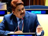 Anjani Kumar, counsellor at the Indian Mission to the United Nations, speaks on Friday, March 10, 2018, at a debate on the Role and Authority of General Assembly.