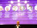 : Bengaluru: Infosys co-founder NR Narayana Murthy addresses during the announcement of the Winners of the Infosys Prize 2017 and a panel discussion on Science Jargon and Society at Infosys ...
