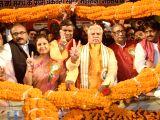 BJP leader Prem Kumar during a programme to observe Maharaja Jarasandha Jayanti in Patna on Nov 17, 2017.