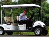 BOGOR, June 30, 2017 - Former U.S. President Barack Obama (front) and Indonesian President Joko Widodo drive through the Presidential palace in Bogor, West Java Province, Indonesia, June 30, 2017.