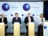 BRUSSELS, Jan. 11, 2018 - Foreign Ministers of France Jean-Yves Le Drian, Germany Sigmar Gabriel, Britain Boris Johnson and EU Foreign Policy Chief Federica Mogherini (from L to R) give a press ...