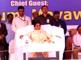 BSP chief Mayawati during a party programme in Bengaluru on Nov 26, 2017.