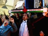 CAIRO, Dec. 7, 2017 - People attend a protest against the U.S. decision to recognize Jerusalem as Israels capital, in Cairo, Egypt, on Dec. 7, 2017. Egyptian President Abdel-Fattah al-Sisi on ...