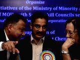 Chennai: Najma Heptulla and Kamal Haasan at the inauguration of seminar