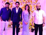 Director Maruti during the Samantha Ruth Prabhu and Naga Chaitanya's wedding reception in Hyderabad.