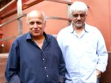 Directors Mahesh Bhatt and Vikram Bhatt during a press conference to promote their upcoming film Love Games in New Delhi on April 5, 2016.