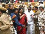 DMK MP Kanimozhi comes out after a Delhi court acquitted her and all other accused in the alleged multi-thousand crore rupee 2G spectrum scandal on Dec 21, 2017. The alleged scam on the ...