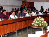 er of Opposition in Rajya Sabha Ghulam Nabi Azad and er of Opposition in Lok Sabha Mallikarjun Kharge with Samajwadi Party MPs Naresh Agrawal and Mulayam Singh Yadav, Trinamool ...