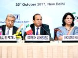 FICCI President Pankaj Patel, Government of India's Department Of Industrial Policy and Promotion (DIPP) Secretary Ramesh Abhishek CII PResident Shobana Kamineni during the India-Italy ...