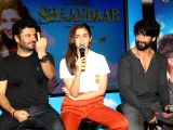 Alia, Shahid, Vikas launch song for film `Shandaar`