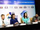 IFFI-2015 - Mai Masri, Bjarni Massi,  Donato Rotunno - press conference