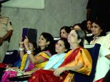 Former President Pratibha Patil being felicitated by Maharashtra Governor K Shankarnarayanan among 10 exceptional women achievers of Maharashtra alongwith Justice Sujata Manohar, Election ...