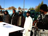 GHAZNI, Nov. 29 Suspected Taliban militants stand in Ghazni province, eastern Afghanistan on Nov. 29, 2017. Seventeen militants were killed and 19 others injured during the serious of ...