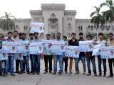 Hyderabad: Osmania student's demonstration