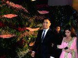 Indian cricketer Mahendra Singh Dhoni along with his wife Sakshi Dhoni at the wedding reception of Indian cricket captain Virat Kohli and actress Anushka Sharma in Mumbai on Dec 26, 2017.