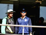 Indian cricketer MS Dhoni along with Assam cricket team coach Lalchand Sitaram Rajput at JSCA Stadium in Ranchi on Jan 10, 2018.