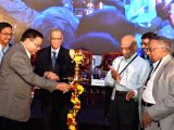 Infosys founder NR Narayana Murthy, Indian Space Research Organisation (ISRO) chairman Dr AS Kiran Kumar and other dignitaries during the inauguration of National Supercomputing Conclave ...