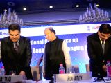 Insolvency and Bankruptcy Board of India chairman M. S. Sahoo, Securities and Exchange Board of India (Sebi) chairman Ajay Tyagi, Finance Minister Arun Jaitley and Reserve Bank of India ...