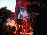 ISLAMABAD, Dec. 27, 2016 - Supporters of the Pakistan Peoples Party (PPP) attend a ceremony to mark the 9th death anniversary of former Pakistans prime minister Benazir Bhutto in Islamabad, capital ...