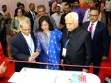 Karnataka Minister R. V. Deshpande, Infosys Executive Vice chairman S Gopalakrishnan during the inauguration of the Bengaluru Tech Summit at Palace Grounds in Bengaluru on Nov ...