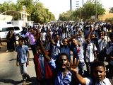 KHARTOUM, Dec. 10, 2017 - Sudanese students gather in front of the United Nations (UN) Office in Khartoum, Sudan, to hand over a memorandum of protest against the U.S. recognition of Jerusalem as the ...