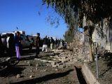 LASHKAR GAH, Feb. 24 Afghan security force members inspect the site of a car bomb attack in Lashkar Gah, capital of Helmand province, Afghanistan, Feb. 24, 2018. At least five people, ...