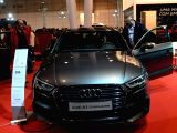 LISBON, Nov. 26, 2017 - Visitors watch an Audi car during the Lisbon Motor Show 2017 in Lisbon, capital of Portugal, on Nov. 25, 2017. The six-day motor show opened on Nov. 21.