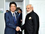 :Manila: Prime Minister Narendra Modi meets Japanese Prime Minister Shinzo Abe in Manila, Philippines on Nov 14, 2017. (Photo: IANS/PIB).