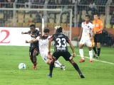 :Margao: Players in action during an ISL match between ATK and FC Goa at Pt Jawaharlal Nehru Stadium in Fatodra, Margao of Goa, on Feb 28, 2018. (Photo: IANS).