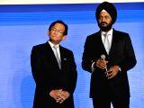 Maruti Suzuki Senior Executive Director (Marketing and Sales) R.S. Kalsi along with Maruti Suzuki Chief Executive Kenichi Ayukawa during the launch of its redesigned showrooms - ...