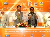 Minister of State for Power, Coal, New and Renewable Energy and Mines (Independent Charge) Piyush Goyal and Minister of State for Petroleum and Natural Gas (Independent Charge)Dharmendra ...