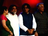 MNS Chitrapat Sena Union Vice President Shalini Thackeray, ad filmmaker Prahlad Kakkar, actors Ashutosh Rana and Dalip Tahil during
