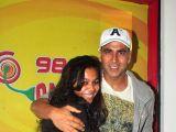Mumbai: Akshay Kumar promotes film Gabbar is Back at Radio Mirchi