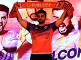 :Mumbai: Actor and FC Pune City co-owner Arjun Kapoor during a programme in Mumbai on Oct 26, 2017.  (Photo: IANS).