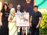 :Mumbai: Actors Salman Khan and Katrina Kaif with Bina Kak at the launch of her book Silent Sentinels of Ranthambhore in Mumbai on Dec 13, 2017. (Photo: IANS).