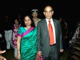 :Mumbai Police Commissioner Satyapal Singh with wife during the annual Mumbai Police event, Umang 2014, at Andheri Sports Complex in Mumbai on Saturday, January 18th, 2014. (Photo: IANS).
