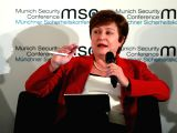 MUNICH, Feb. 16, 2018 - World Bank Chief Executive Officer Kristalina Georgieva attends a panel discussion during the 54th Munich Security Conference (MSC) in Munich, Germany, on Feb. 16, 2018. The ...