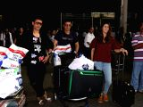 Manmeet Singh and Harmeet Singh seen at airport