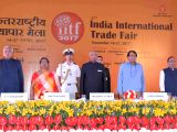 : New Delhi: President Ram Nath Kovind with Suresh Prabhu, Union  Minister of Commerce & Industry inaugurating the 37th India International Trade Fair (IITF)--2017 at Pragati Maidan in New Delhi on ...