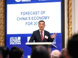 NEW YORK, Jan. 10, 2018 - Former senior vice president and chief economist of the World Bank Justin Lin Yifu speaks during the event of
