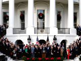 NEW YORK, Jan. 19, 2018 - File photo taken on Dec. 20, 2017 shows U.S. President Donald Trump speaks at an event celebrating the passage of the tax bill on the South Lawn of the White House in ...