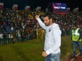 North East United FCs co-owner and actor John Abraham during an Indian Super League (ISL) match between North East United FC and Bengaluru FC at Indira Gandhi Athletic Stadium in Guwahati ...