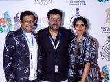 """Panaji :IFFI 2017  - Sonali Kulkarni and Prasad Oak - screening of film """"Kaccha Limbu"""