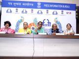 Panaji :IFFI 2017  - Alpana Pant Sharma, Ranjit Kapoor, Satish Kaushik,  Sudhir Mishra and Neena Gupta - Press conference
