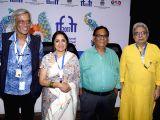 Panaji :IFFI 2017  - Sudhir Mishra, Neena Gupta, Satish Kaushik and Ranjit Kapoor - Press conference