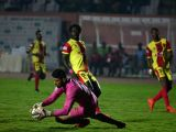 Players in action during an I-League match between Gokulam Kerala and Chennai City at Jawaharlal Nehru Stadium in Coimbatore on Jan 20, 2018.