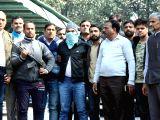 Police present before press Abdul Subhan Qureshi, the Indian Mujahideen operative, termed