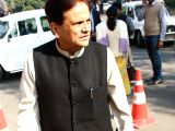 :Political advisor to Sonia Gandhi,Ahmed Patel,at Parliament House.-(Photo:IANS/Amlan).