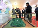 Prime Minister Narendra Modi being briefed about the project of 2 Laning of Shilong-Nongstoin section of NH-106 and Nongstoin-Tura Road of NH-127B in Meghalaya on Dec 16, 2017.